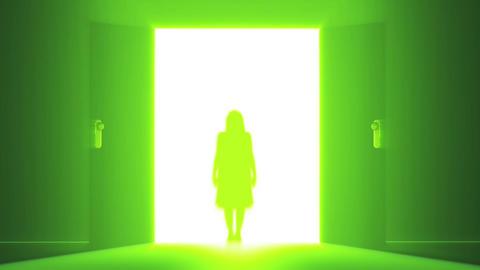 Mysterious Door v 3 8 yurei Stock Video Footage