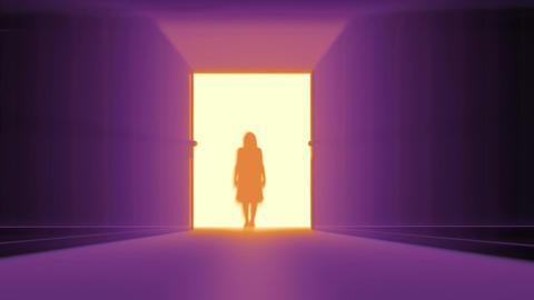 Mysterious Door v 3 10 yurei Stock Video Footage