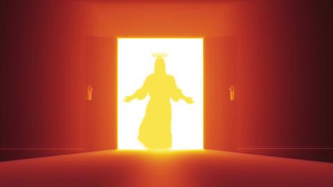 Mysterious Door v 3 12 jesus Stock Video Footage