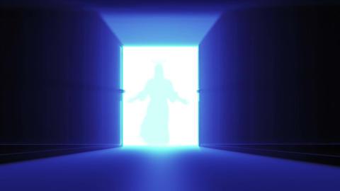 Mysterious Door v 3 14 jesus Stock Video Footage