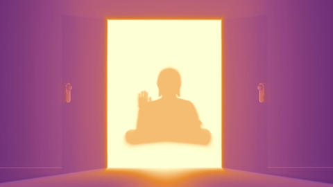 Mysterious Door v 3 20 buddha Stock Video Footage