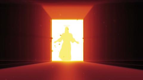 Mysterious Door v 4 7 jesus Stock Video Footage