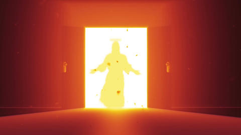 Mysterious Door v 4 7 jesus Stock Video Footage