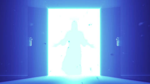 Mysterious Door v 4 9 jesus Stock Video Footage