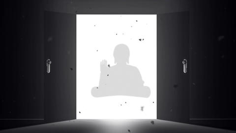 Mysterious Door v 4 11 buddha Stock Video Footage