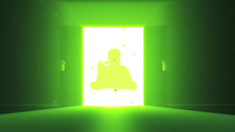 Mysterious Door v 4 13 buddha Stock Video Footage