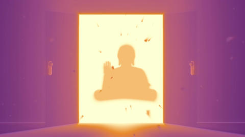 Mysterious Door v 4 15 buddha Stock Video Footage