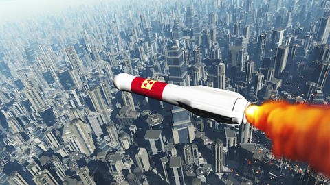 Nuclear Rocket Hits Metropolis 1 Animation