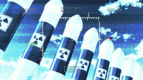Nuclear Rockets 3 Stock Video Footage