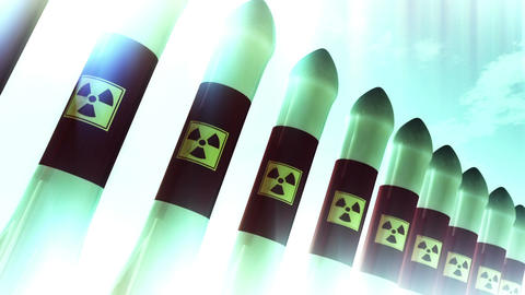 Nuclear Rockets 9 Stock Video Footage