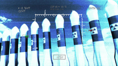 Nuclear Rockets 15 Stock Video Footage