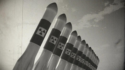 Nuclear Rockets 17 vintage Stock Video Footage