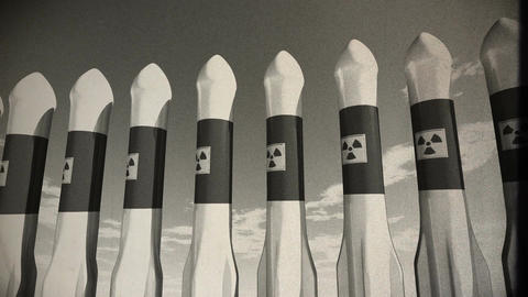 Nuclear Rockets 19 vintage Stock Video Footage