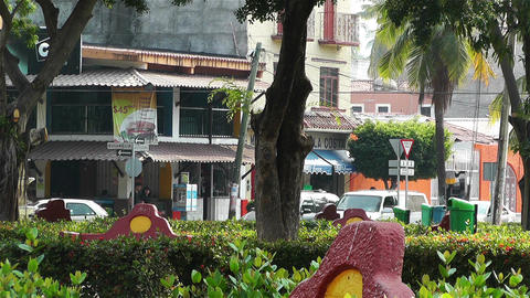 Oaxaca Crucecita Town Mexico 2 Stock Video Footage