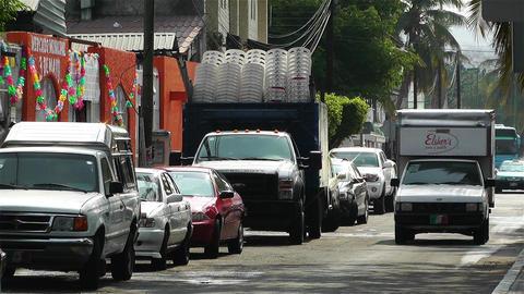 Oaxaca Crucecita Town Mexico 14 traffic Stock Video Footage