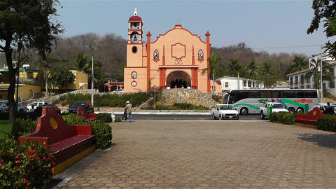 Oaxaca Crucecita Town Mexico 16 church Stock Video Footage