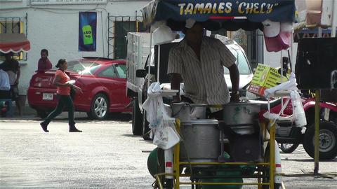 Oaxaca Street Vendor 1 Footage