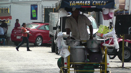 Oaxaca Street Vendor 1 Stock Video Footage