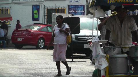 Oaxaca Street Vendor 1 Stock Video Footage