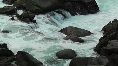 Ocean Waves on Rocky Coast 1 Stock Video Footage