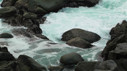 Ocean Waves on Rocky Coast 1 Stock Video Footage