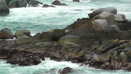 Ocean Waves on Rocky Coast 5 Stock Video Footage
