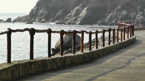Path along Rocky Beach 1 Footage