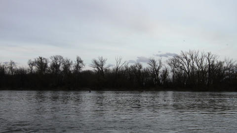 River in Early Spring Timelapse 2 Stock Video Footage