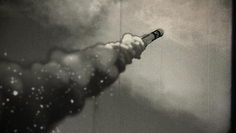 Rocket 7 vintage Stock Video Footage