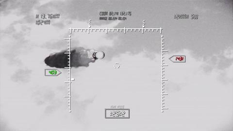 Rocket 11 military screen BW Animation