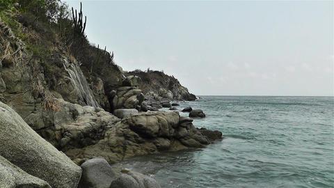Rocky Ocean Shore 1 Footage