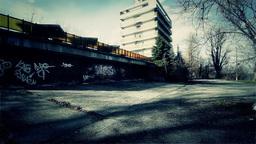 Scary Abandoned Building 2 tilt v 2 Stock Video Footage