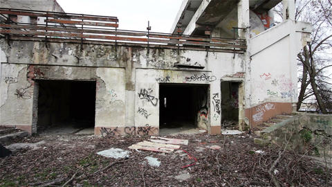 Scary Abandoned Building 3 Footage