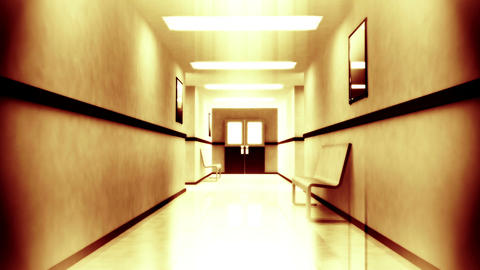 Scary Hospital Corridor 2 Stock Video Footage
