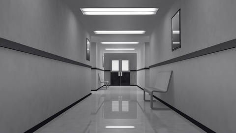 Scary Hospital Corridor 4 Stock Video Footage