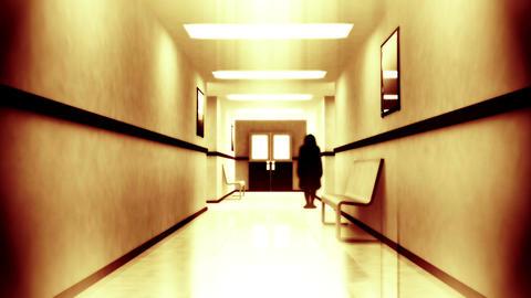 Scary Hospital Corridor 6 yurei Stock Video Footage