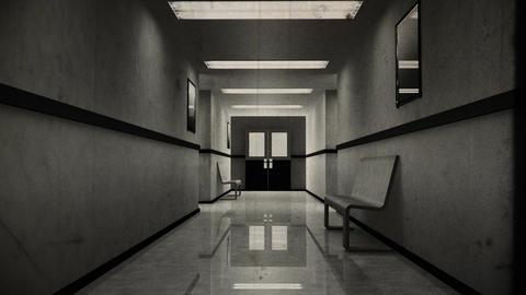 Scary Hospital Corridor 8 vintage Animation