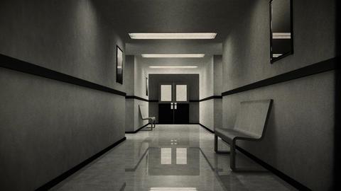 Scary Hospital Corridor 8 vintage Stock Video Footage