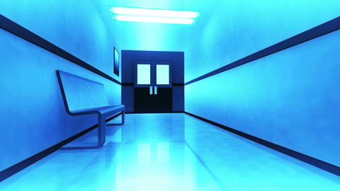 Scary Hospital Corridor v 3 4 Stock Video Footage