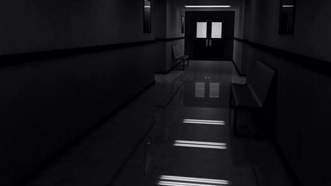 Scary Hospital Corridor v 4 2 Stock Video Footage
