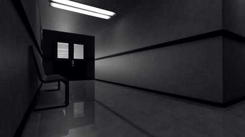 Scary Hospital Corridor Yurei 4 Stock Video Footage