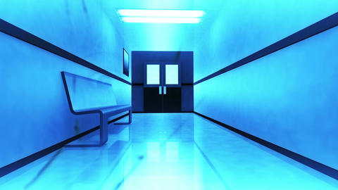 Scary Hospital Corridor Yurei 6 Stock Video Footage