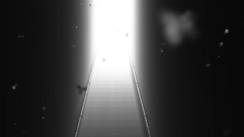 Scary Stairs Yurei Ghost Shape Appear v 2 4 Stock Video Footage