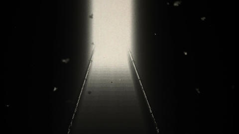 Scary Stairs Yurei Ghost Shape Appear v 2 8 vintage Stock Video Footage