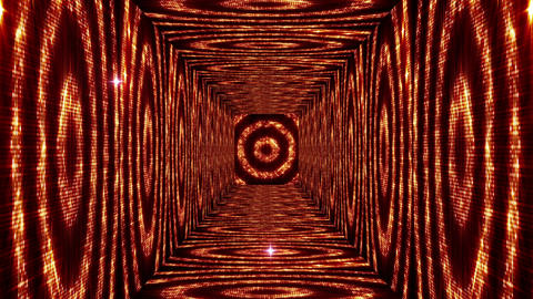 Shining Circles Tunnel 1 Stock Video Footage