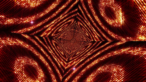 Shining Circles Tunnel 5 Stock Video Footage
