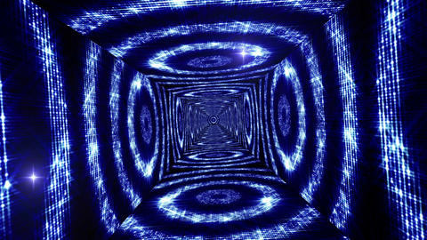 Shining Circles Tunnel 7 Stock Video Footage