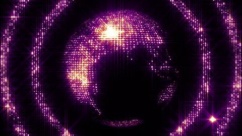 Shining Spinning Earth 4 Animation