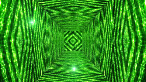 Shining Squares Tunnel 2 Stock Video Footage