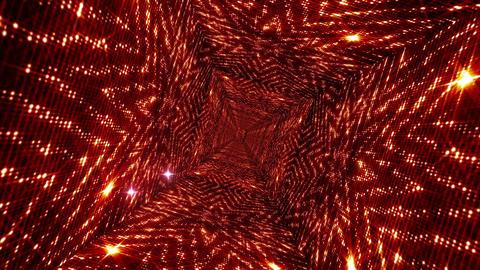 Shining Stars Tunnel 5 Stock Video Footage